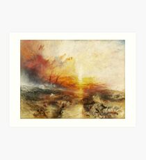 The Slave Ship by JMW Turner Art Print