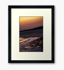 Warm Waves Framed Print