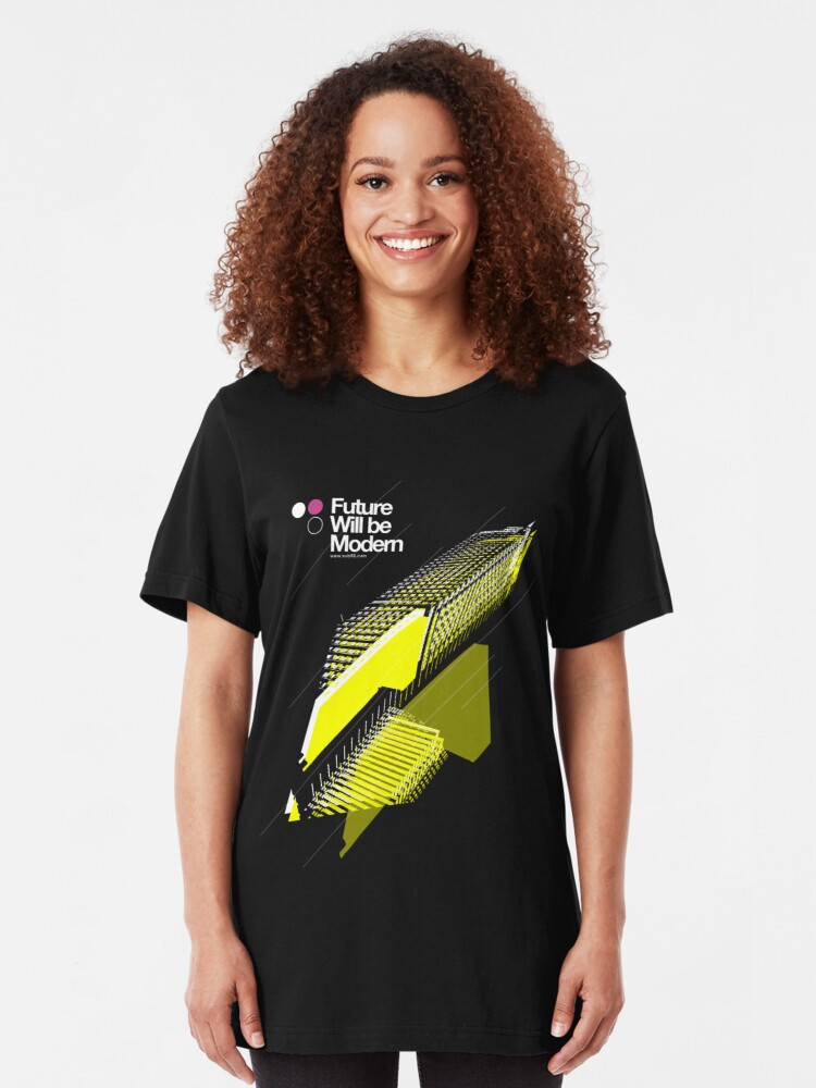 Alternate view of Future Will be Modern /// 001 Slim Fit T-Shirt