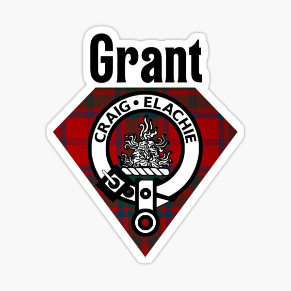 Grant - Coat Of Arms - Tartan - Clans of Scotland Sticker
