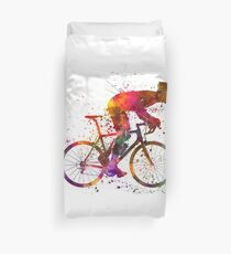 cyclist road bicycle Duvet Cover