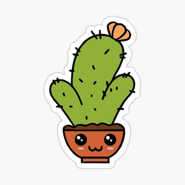Cute Cactus Design Sticker
