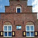 Old Frisian stepped gable by Arie Koene