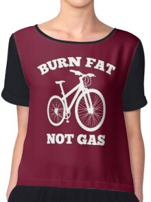 Burn Fat Not Gas Chiffon Top