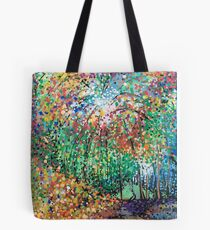 Firework forest Tote Bag