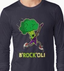 Funny cartoon broccoli playing electric guitar T-Shirt
