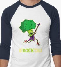 Funny cartoon broccoli playing electric guitar T-Shirt