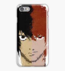 Death Note L vs Light iPhone Case/Skin