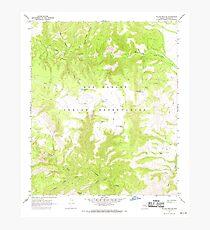 USGS TOPO Map Arizona AZ Willow Mtn SE 314135 1967 24000 Photographic Print