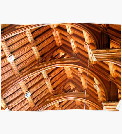 Ceiling in Chester Cathedral Poster