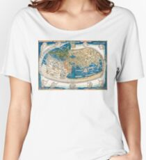4th edition of Ptolemy's Cosmographia  by Leinhart Holle, dated 1482 Women's Relaxed Fit T-Shirt