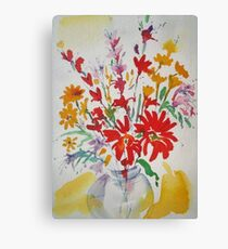 Flowers in a Jar Canvas Print