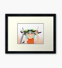 Green Goggles  Framed Print