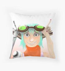 Green Goggles  Throw Pillow