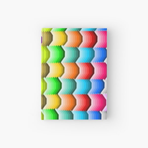 Colorful Abstract Shapes  Hardcover Journal