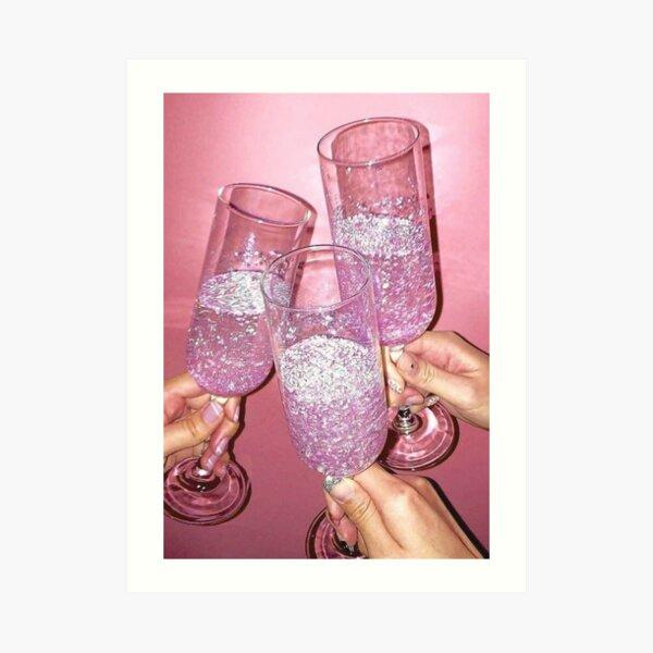 Baddie pink aesthetic poster Art Print