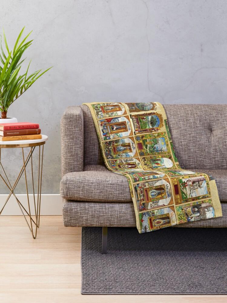 Alternate view of Splendor Solis Throw Blanket
