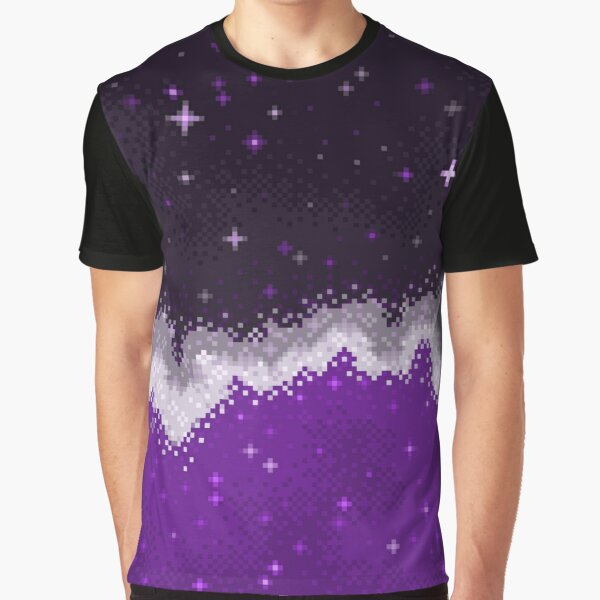 Ace Pride Flag Galaxy Graphic T-Shirt