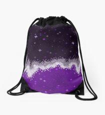 Ace Pride Flag Galaxy Drawstring Bag
