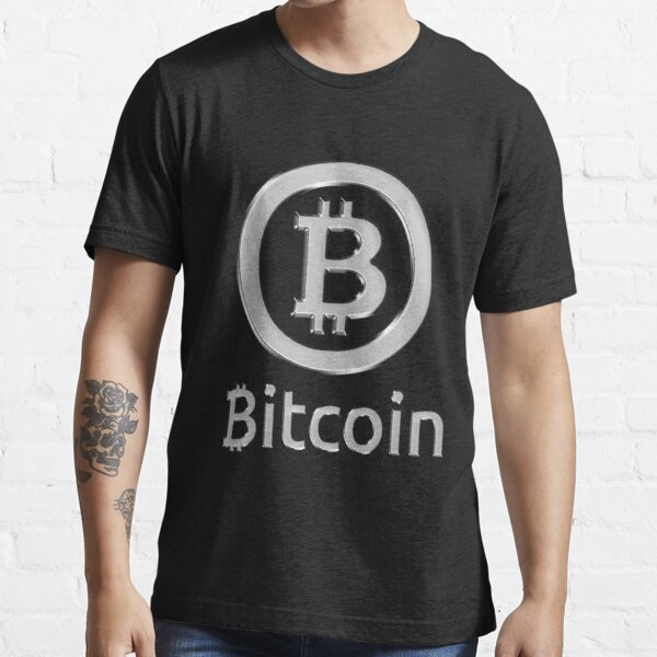 Bitcoin made of Silver Essential T-Shirt