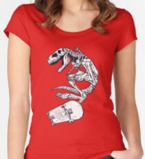 T rex Pro Skate Women's Fitted Scoop T-Shirt