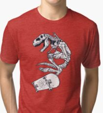 T rex Pro Skate Tri-blend T-Shirt