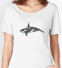 Orca on blue Women's Relaxed Fit T-Shirt