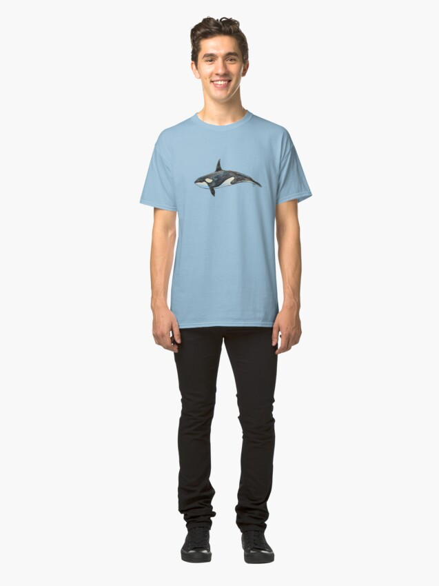 Alternate view of Orca on blue Classic T-Shirt