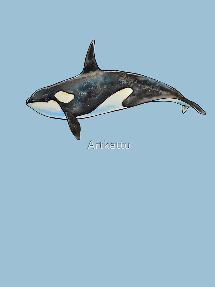Orca on blue by Artkettu