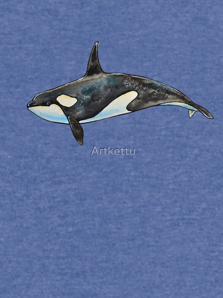 Orca on blue by Artkettu