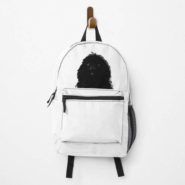 Newfoundland Dog Head Black Backpack