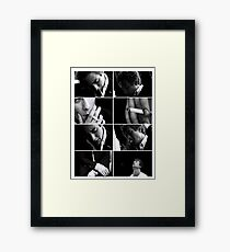 Lip Gallagher collage Framed Print