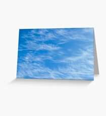 Blue sky with Light Cirrus clouds Greeting Card