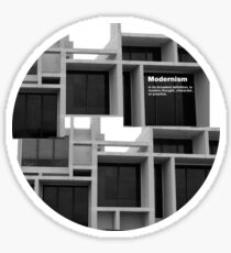 Modernism Sticker