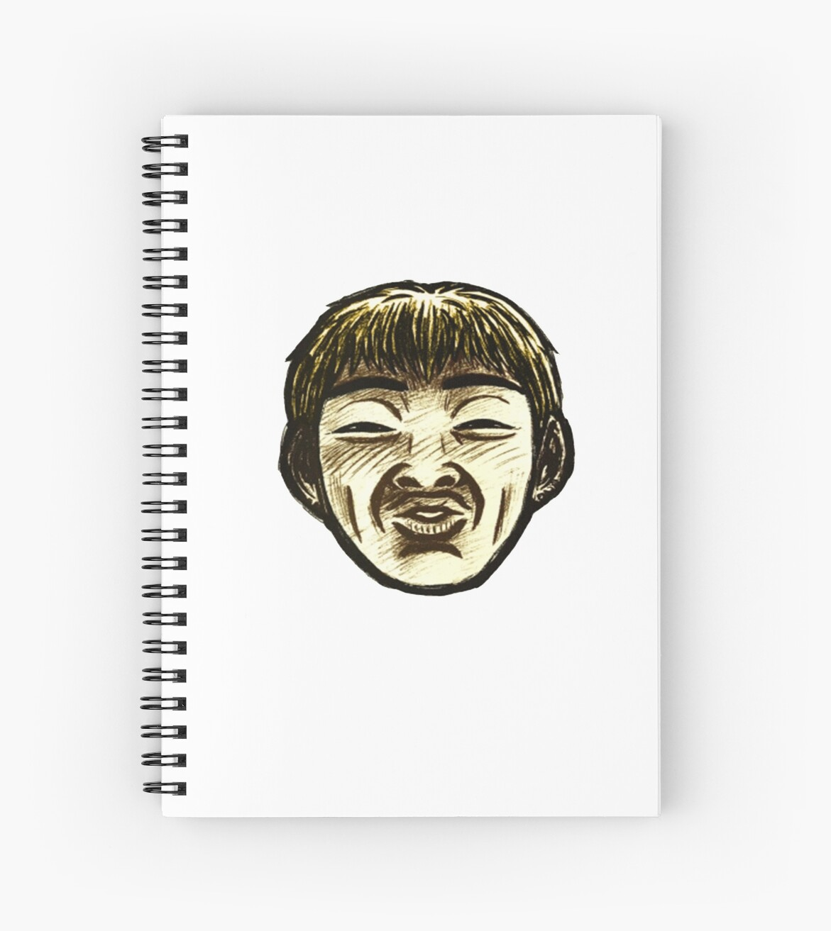 Great teacher onizuka face spiral notebook by sirhodon redbubble