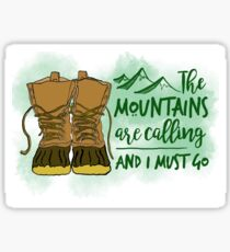 New England Boot Mountains Sticker