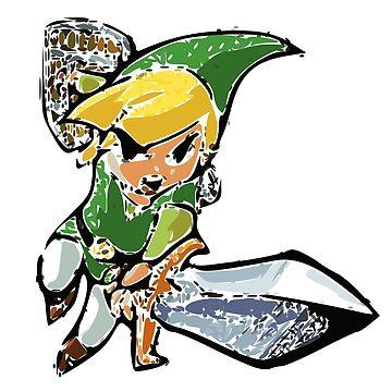 Legend of Zelda: Wind Waker Link (Vectorized) by muramas