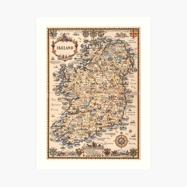 1927 vintage Ireland map Art Print