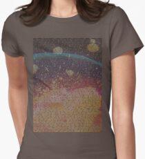 Radiohead - In Rainbows Lyrics T-Shirt Design #2 Womens Fitted T-Shirt