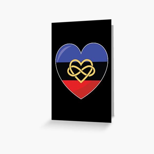 Polyamorous Pride Heart Gift, Polyamorous Love, Polyamorous Love is Love LGBT+ Greeting Card
