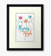 Flying High on Cannabis Framed Print