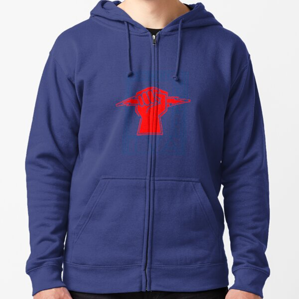 TVA-Electricity for All-Art Deco New Deal Logo Zipped Hoodie
