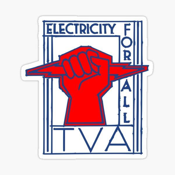 TVA-Electricity for All-Art Deco New Deal Logo Sticker
