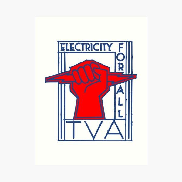 TVA-Electricity for All-Art Deco New Deal Logo Art Print
