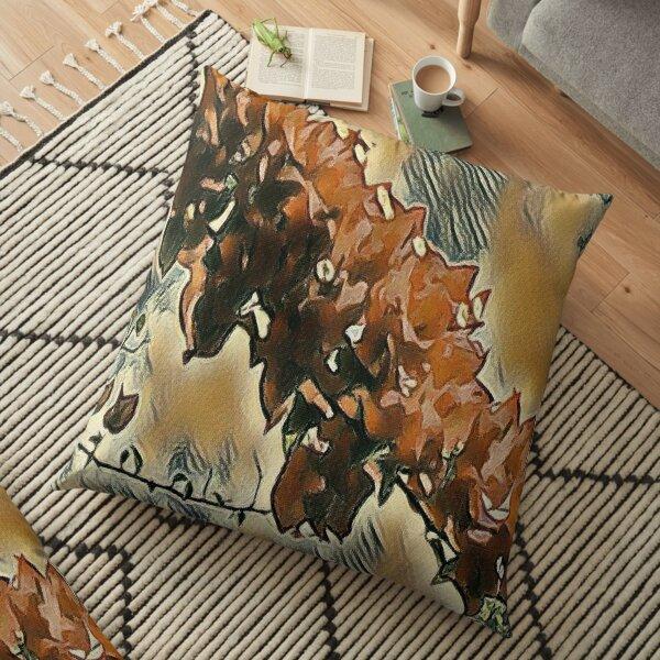 Rose Tree Art Floor Pillow