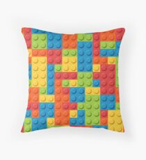 Lego Bricks Throw Pillow