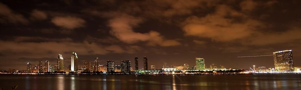 SAN DIEGO CITY PANORAMA by fsmitchellphoto