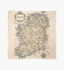 1927 vintage Ireland map Scarf