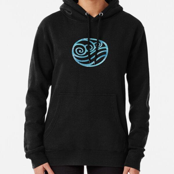 Water Tribe Watercolor Symbol (on black) Pullover Hoodie