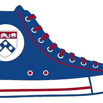 University of Pennsylvania UPenn Converse Sneaker by katedylan